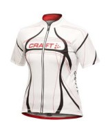 Craft Women's Performance Tour Jersey – White and Red