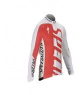 Specialized Mens Cycling Jersey (Red, White - Long Sleeve)